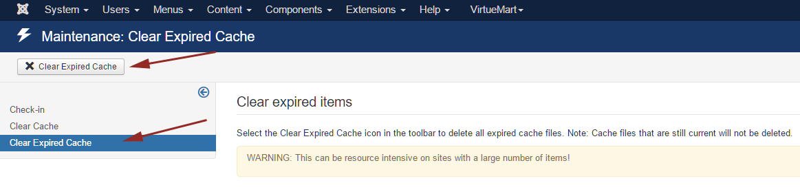 joomla-clear-expired-cache-process