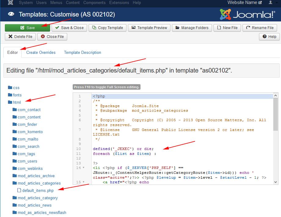J3. X:modifying a joomla! Template joomla! Documentation.